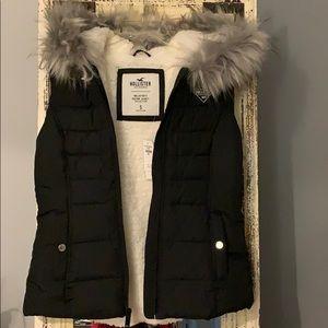 Hollister Black Hooded Vest